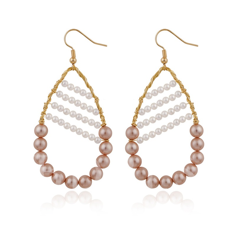 Pearl Inlaid Sweet Bronze Birthday Earrings