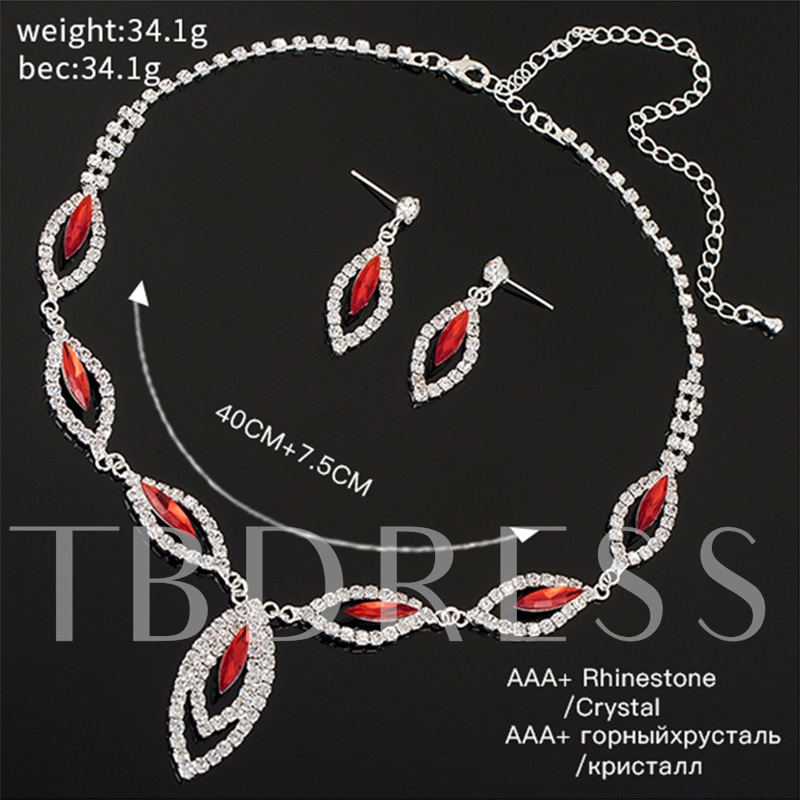 Diamante Necklace Romantic Prom Jewelry Sets