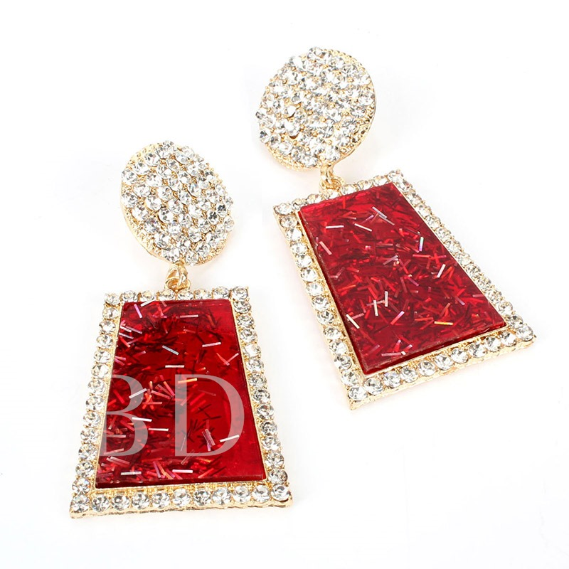 Diamante European Alloy Party Drop Earrings