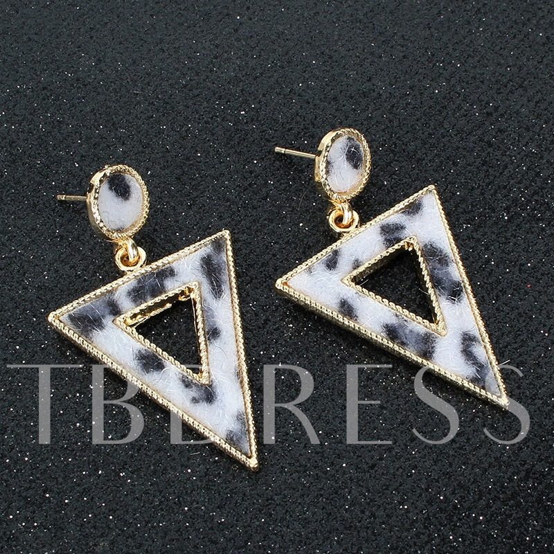 Leopard E-Plating European Prom Drop Earrings