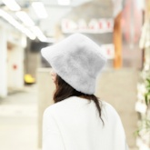 Sweet Bucket Shape Fur Winter Hats
