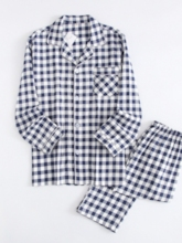 Fall Long Sleeve Cotton Men's Pajamas Sets