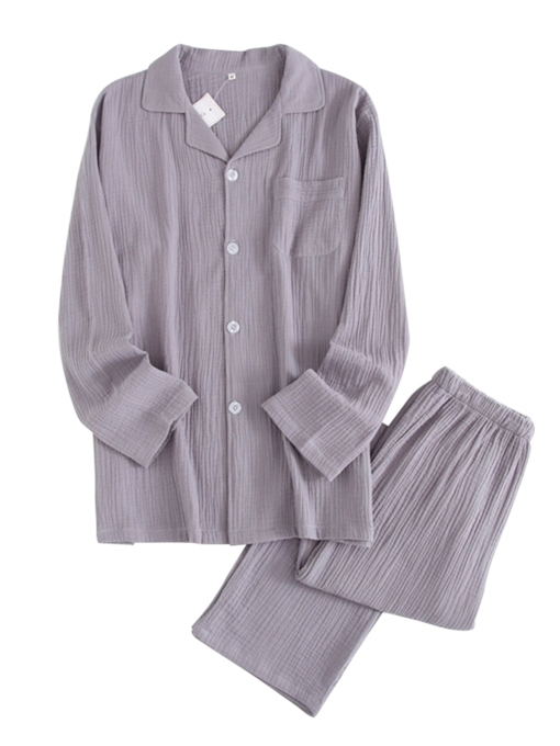 Langarm Winter Herren Pyjama Sets