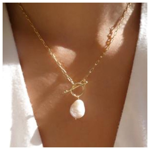 E-Plating European Pearl Pendant Necklace
