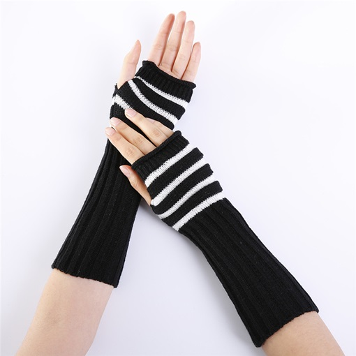 Stripe Acrylic Casual Winter Gloves
