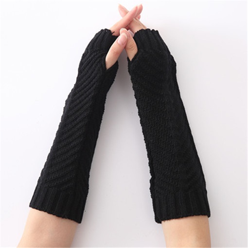 Acrylic Plain Casual Winter Gloves