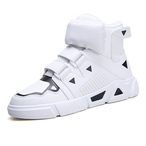 Winter Velcro Mid-Cut Upper Platform Round Toe Men' Sneakers