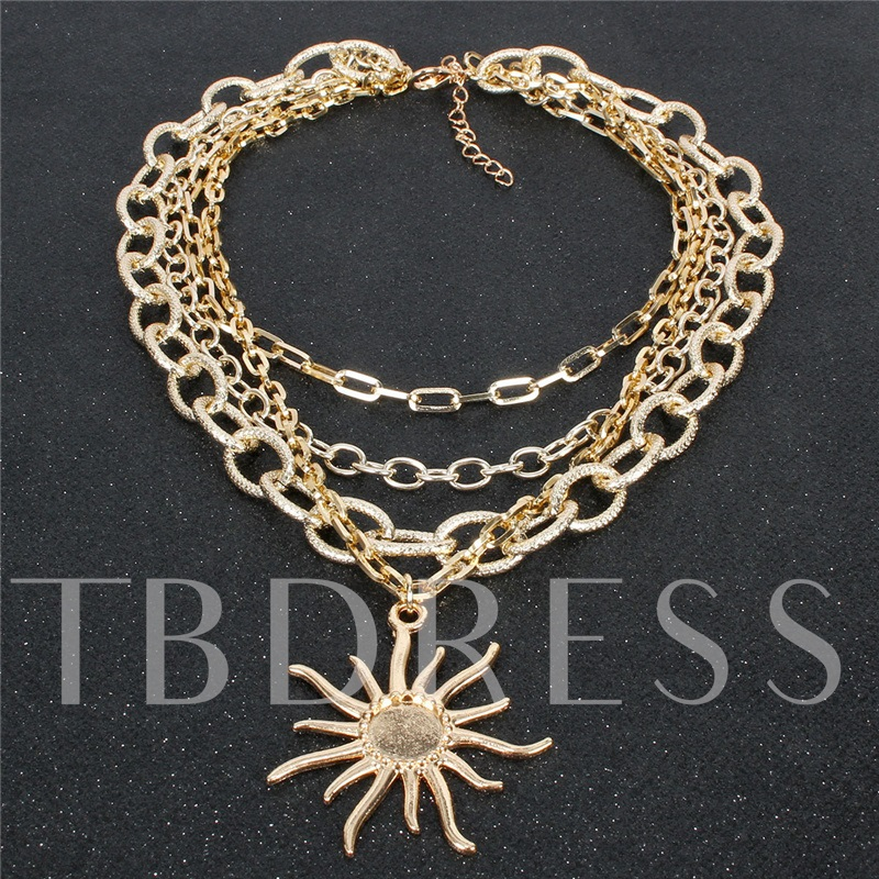 E-Plating Vintage Party Pendant Necklace