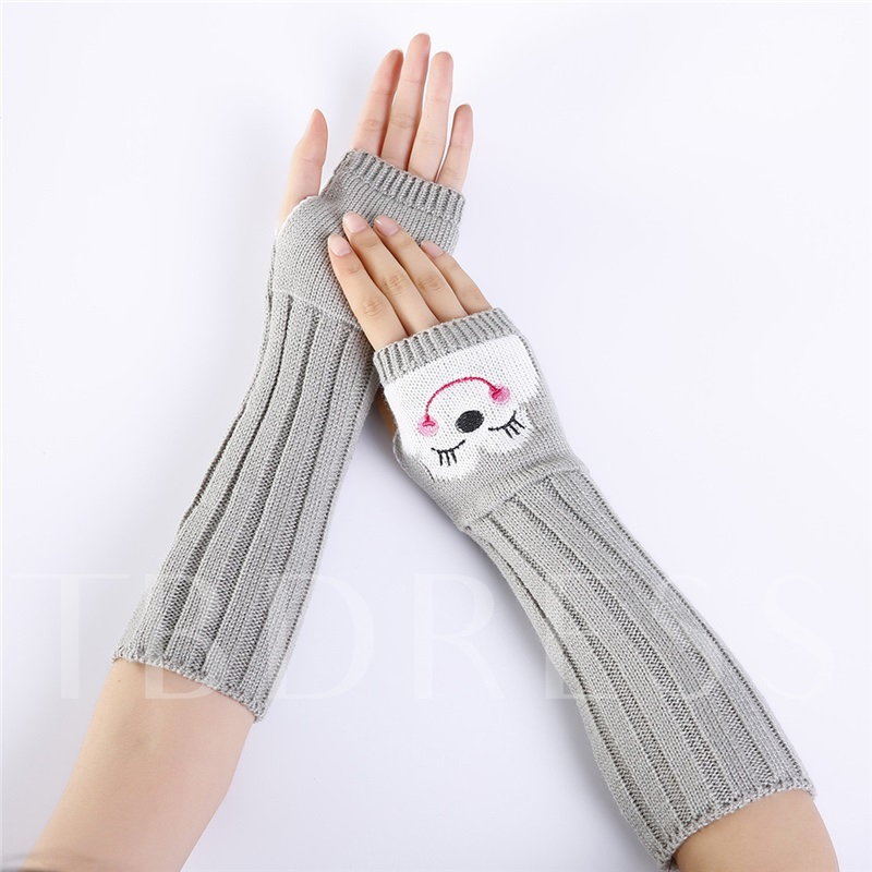 Casual Embroidery Cartoon Winter Gloves