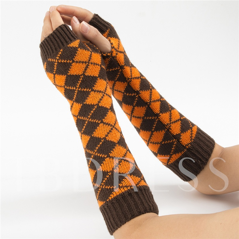 Acrylic Casual Geometric Women's Gloves