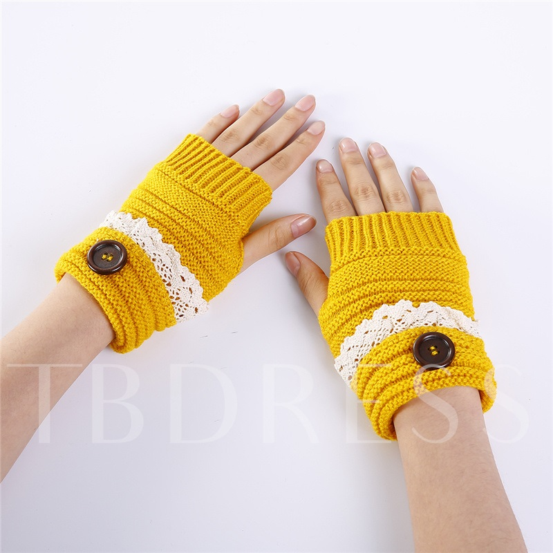 Casual Acrylic Lace Women's Gloves