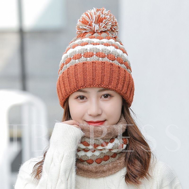 Sweet Pompon Knitted Hat Winter Hats