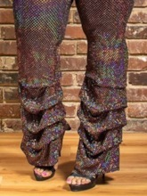 Plus Size Slim Sequins High Waist Women's Casual Pants