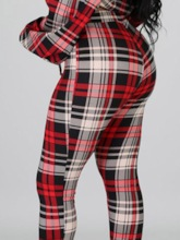 Plaid Casual Women's Two Piece Sets