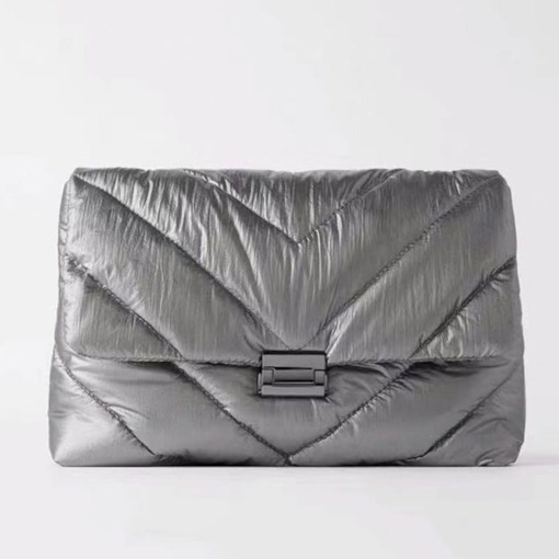 Fashion Quilted Lining Rectangle Shoulder Bags