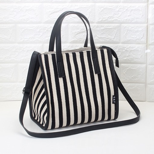Canvas Stripe Thread Wing Tote Bags