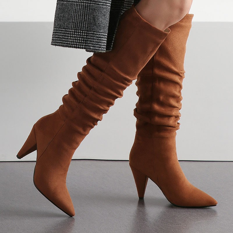 Casual | Point | Knee | Boot | High | Toe