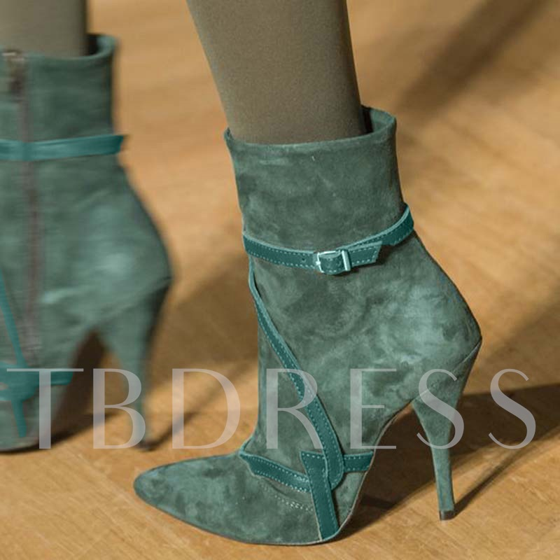 Stiletto Heel Pointed Toe Vintage Customized Ankle Boots