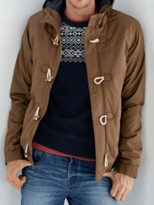 Plain Color Style Casual Men's Down Jacket