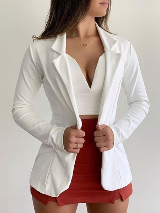 blazer décontracté femme office lady plain regular un bouton