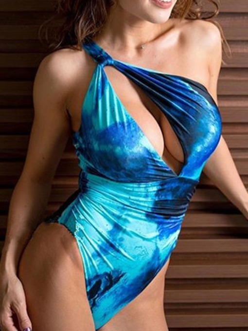One Shoulder One Piece Sexy Women's Swimwear