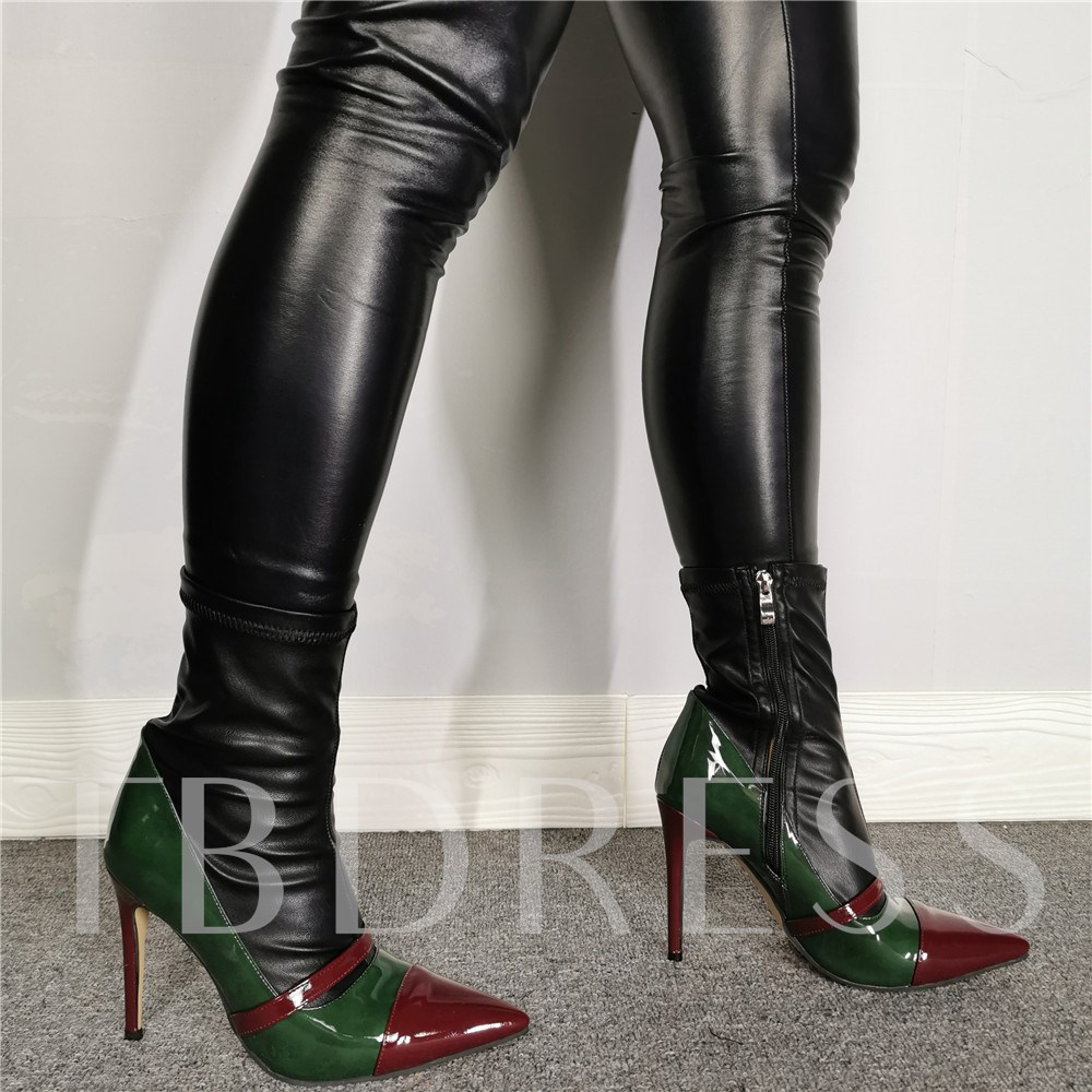 Pointed Toe Side Zipper Customized Sexy Thigh High Boots