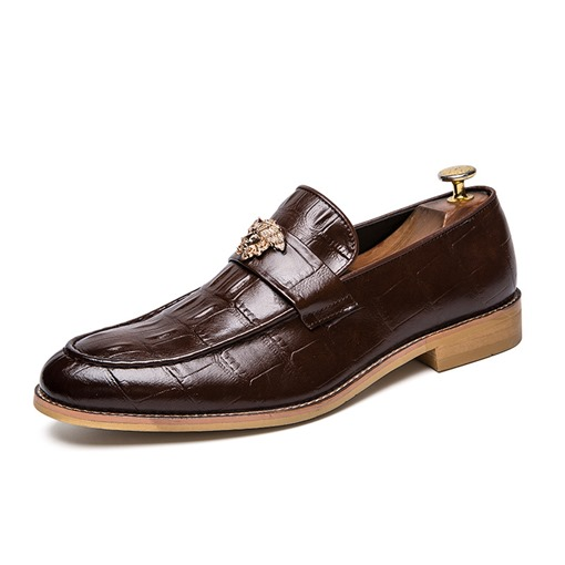 Plain Slip-On PU Men's Leather Shoes