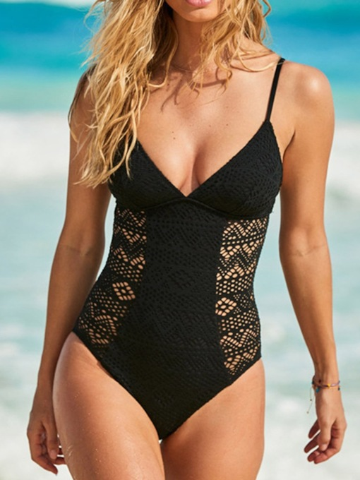 One Piece Hollow Women's Swimwear