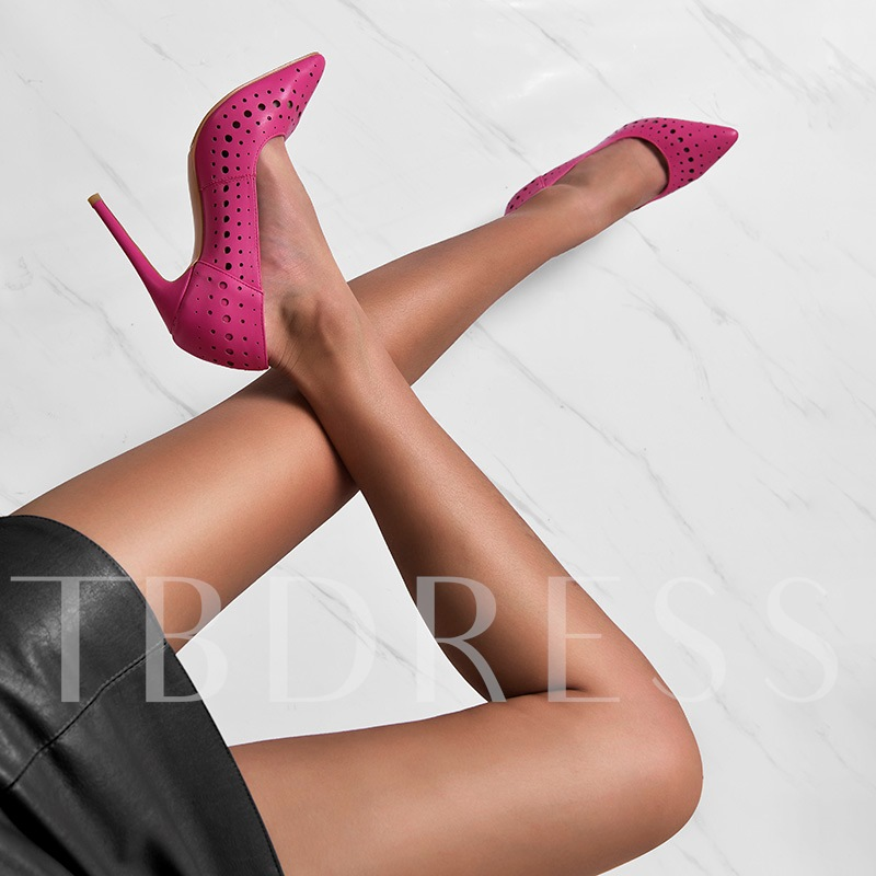 Slip-On Pointed Toe Customized Peach Sxey Pumps