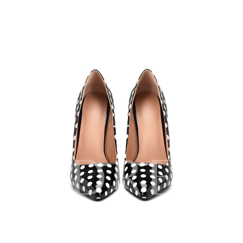 Pointed Toe Slip-On Customized Polka Dot Pumps