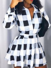 Plaid Casual Cute Women's Two Piece Sets
