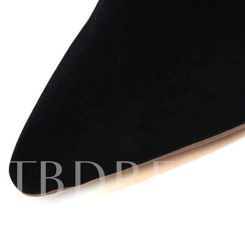 Pointed Toe T-Shaped Buckle Hollow Stiletto Heel Ankle Boots