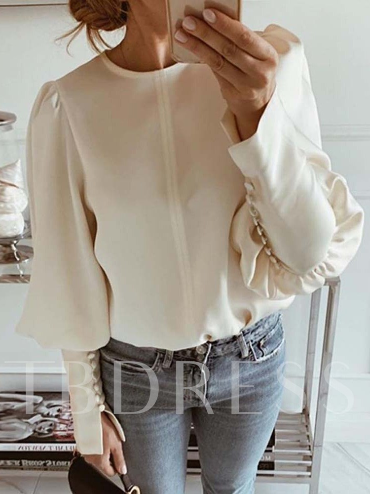 lantern Slim Long Sleeve Women's Blouse