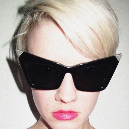 Cat Eye Poly Carbonate Fashion Sunglasses