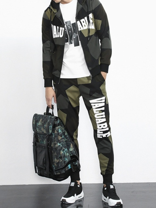 Pants Casual Camouflage Print Summer Men's Outfit