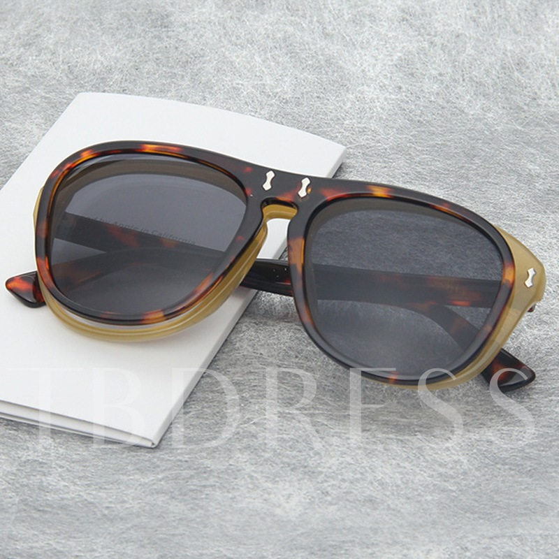 Resin Wrap Fashion Decorated Sunglasses