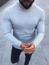 Standard Turtleneck Plain Men's Sweater
