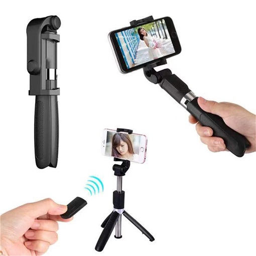 Stainless Steel 3 Bluetooth Tripod Selfie Sticks for Cell Phone