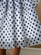 Polka Dots Mesh Mid-Calf Ball Gown Sweet Women's Skirt