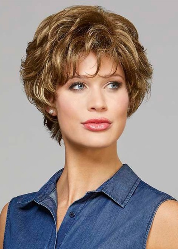 Ladies Wigs For Sale, Women's Short Curly 100% Human Hair Lace Front Cap Wigs