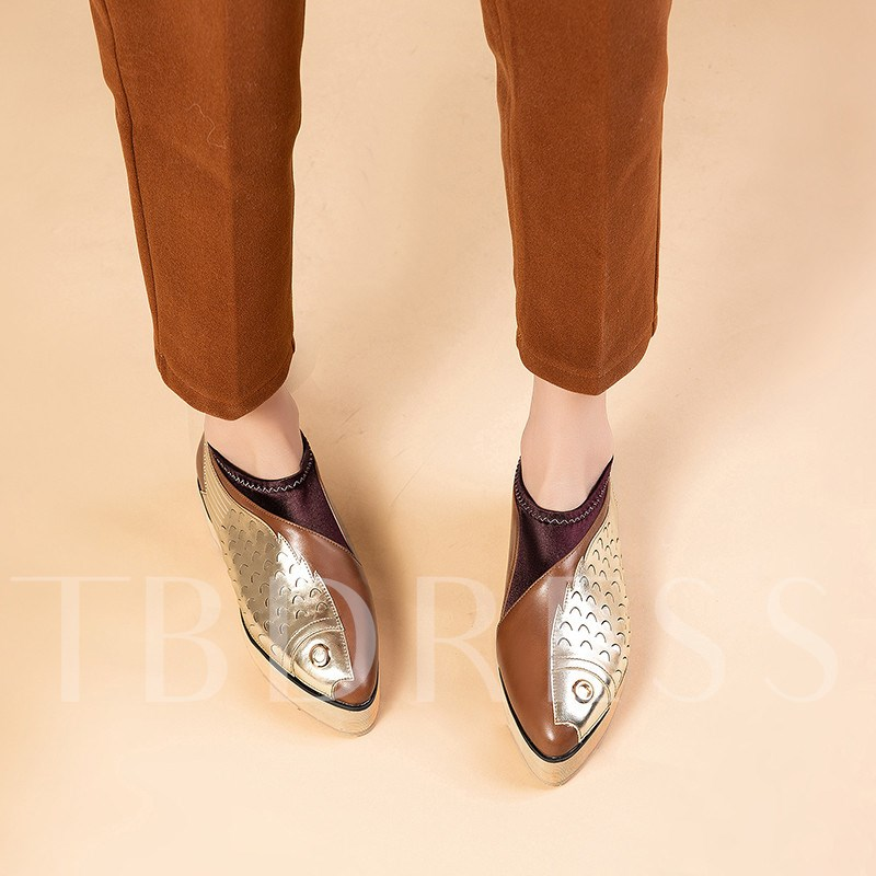 Slip-On Pointed Toe Stiletto Heel Customized Casual Flats