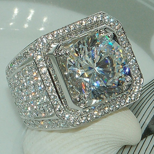 Diamante European Wedding Prom Rings