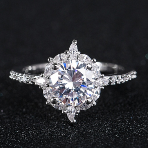 Romantic Diamante Gift Prom Rings