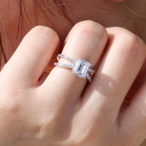 Romantic Diamante Engagement Gift Rings
