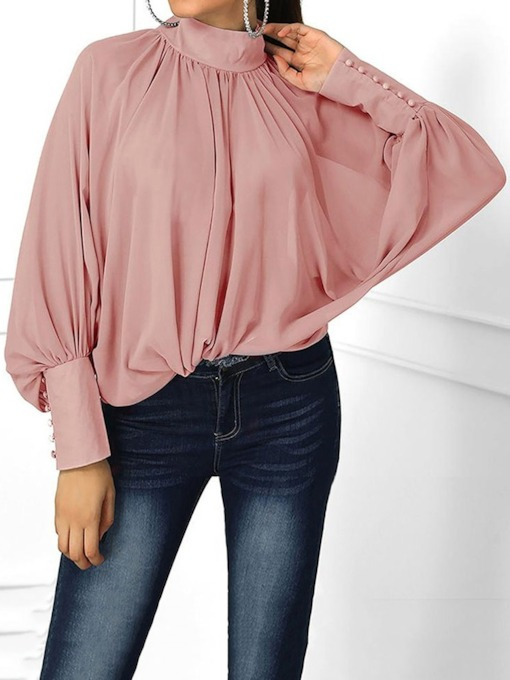 Plain Solid Fashion Standard Women's Blouse