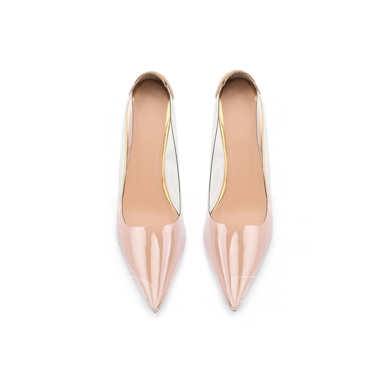 Slip-On Pointed Toe Customized See Through Pumps