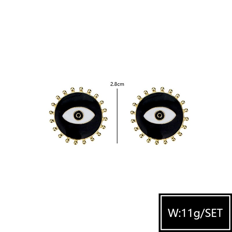 Alloy European Oil Drip Gift Stud Earrings