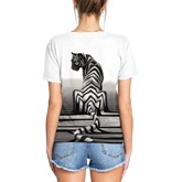 Simple Prints Slim Animal Couple's T-Shirt