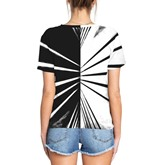 Casual Loose Stripe Couple's T-Shirt