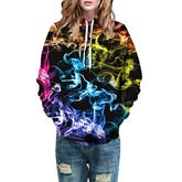 Magic Color Block Casual Prints Couple's Hoodie